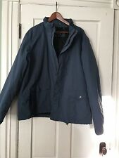 Lands End MENS quilted parka jacket XXL 50-52 EXCELLENT CONDITION BLUEred nylon