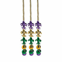 Jumbo Mardi Gras Beads - Costume Accessories - Party Favors - 6 Pieces