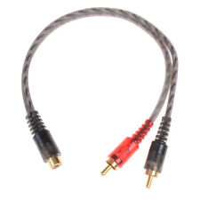 Car audio 1RCA female to2RCA male Y splitter cable converter cord adapter cablXB