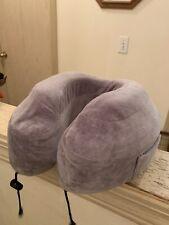 Cabeau Evolution Classic Memory Foam Travel Neck Pillow w/ Washable Cover Grey
