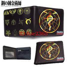 Fullmetal Alchemist LOGO Short Wallet Bifold Purse Money Bag  Coin Bag Gift New