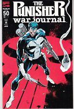PUNISHER WAR JOURNAL #50 1993 MARVEL  by STAN LEE 52p EMBOSSED-c 1ST APP '2099'