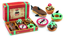 Djeco Pirate Cakes | Super Cute Pirate Themed Toy Play Cakes Buns | Includes Box