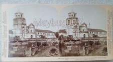 1899 Underwood Stereoview Card Church at Pasig Philippines