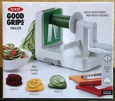 OXO Good Grips Fruit Vegetable Spiralizer with 3 Blades NEW