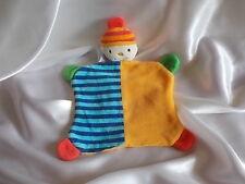 Doudou lutin, personnage,orange, bleu, Baby Club, Blankie/Lovey/Newborn toy