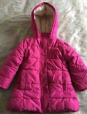 John Lewis Girls Pink Padded Hooded Coat Age 5 Great warm winter coat!!!