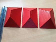 BAYKO ROOFS (Pre Lego) SMALL RED ROOFS x 3 Job Lot Spares/Parts PLEASE SEE PICS.