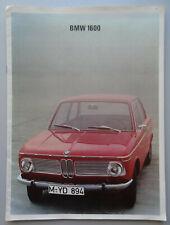 V21846 BMW 1600 - CATALOGUE - NON DATE - 24x32 - NL NL