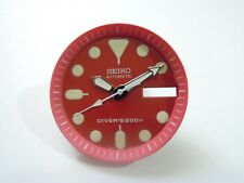 NEW REPLACEMENT SEIKO RED DIAL / HANDS FITS SEIKO SKX013 MEDIUM DIVER'S WATCH