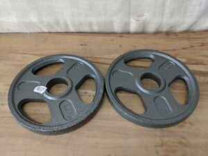 "WEIDER Weight Pair Plates 10 lbs (20 lbs total) for Olympic 2"" Hole Barbell"