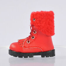 shoes red boots for Lammily Doll Exclusive First Edition Real Life Barbie Doll .