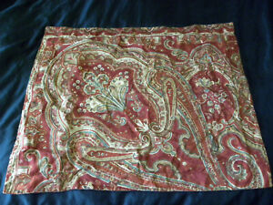 Pottery Barn Alice Paisley Standard Pillow Sham Regal Colonial Red Medallion