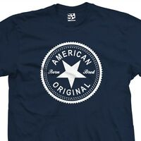 American Original Inverse T-Shirt - Born and Bred in USA Tee - All Sizes Colors