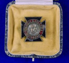 Vintage Ukrainian Ukraine German Made Stepan Bandera Pin Badge Medal w/ Box