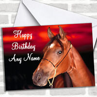 Horse Portrait Personalized Birthday Card