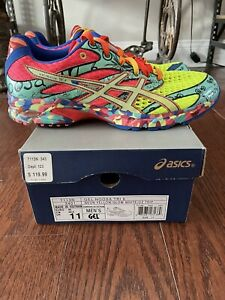 ASICS Gel Noosa Tri 6 Shoes Size 11 T113N-3401 Mens Running Multicolor Splatter