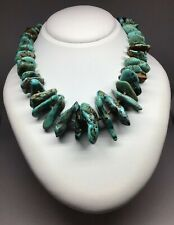 Heishi Necklace 16� Excellent Condition Vintage Navajo Turquoise Nugget &