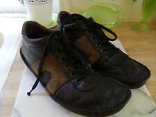CAMPER MENS DARK BROWN LEATHER & SUEDE SHOES BOOTS 44