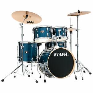 """Schlagzeug Tama Imperialstar 18"""" Hairline Blue Drum Set Drumset NEU"""