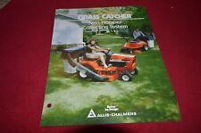 Allis Chalmers Grass Catcher For Lawn Tractor Dealer's Brochure DCPA