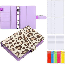 Budget Binder Personal Planner Binder A6 Pu Leather Notebook Set With Pieces 2