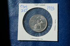 A-205 1973 Canada 25 Cents quarter Queen Elizabeth II RCMP Centennial Mountie