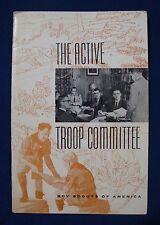 Vintage 1963 The Active Troop Committee Handbook Booklet BSA Boy Scouts America