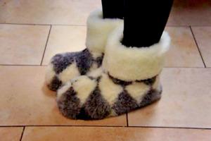 Premium Quality Sheepskin/Sheep Wool Slippers Women. Made in Poland. US Seller!