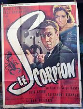 cinema-Affiche originale- LE SCORPION -Sorano-Serge Hanin-Elga Andersen 120x160
