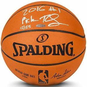 """BEN SIMMONS Autographed 76ers """"2016 #1 Pick"""" Authentic Basketball UDA LE 125"""