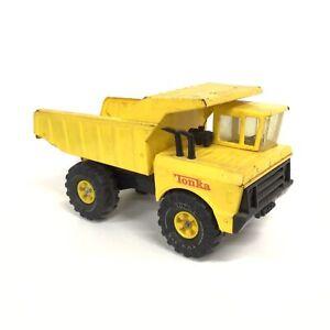 Vintage Mighty Tonka Dump Truck XMB-975 Pressed Steel Construction Yellow #209