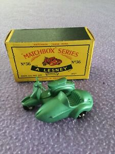 LESNEY MATCHBOX MOTOR SCOOTER,WITH ORIGINAL BOX.