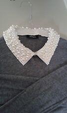 Jersey de lana MAX&CO con cuello de perlitas extraible, talla S