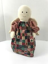 Primitive Angel Quilted Fabric Doll Cabin Country Rustic Large Stand Alone Decor