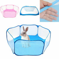 Small Pet Play Pen Portable Puppy Dog Cat Cage Durable Fabric Tent Baby Foldable