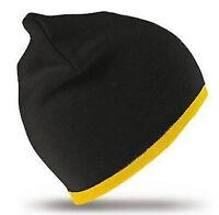 TRENDY MÜTZE für Mädchen Jungs Damen Herren WOW schwarz-gelb Beanie Universal 1A