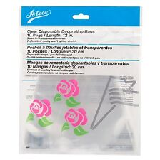 "Ateco 10 Disposable Cake Icing Piping Cream Pastry Decorating 12"" Bags USA MADE"