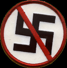 9402  No Racism - Anti Nazi Against Swastika Punk Badge Political Sew Iron Patch