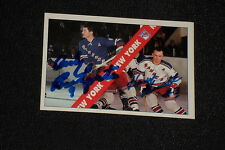 ANDY BATHGATE & HARRY HOWELL 1992 ULTIMATE SIGNED AUTOGRAPHED CARD #2 RANGERS