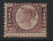 GB QV 1870 SMALL ½d PLATE 4 FINE MINT cv£130