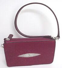 Red Stingray Wallet Purse, Red Stingray Clutch Bag, Stingray Leather Wristlet