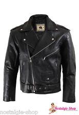 Marlon Brando Bikerjacke,Lederjacke,Rockabilly,Jacke Naked Leather Oldschool TOP