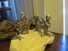 Vintage Fine Pewter Circus Miniature Clowns  Figurines
