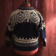 Dale of Norway, traditional wool men's Norwegian pullover sweater jumper, M
