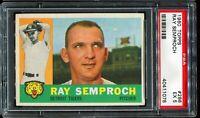 1960 Topps Baseball #286 RAY SEMPROCH Detroit Tigers PSA 5 EX