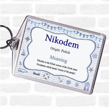 Leather Keyring Birthday Name Optional Engraving Nikodem
