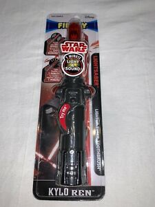 New Disney Star Wars Kylo Ren Lightsaber Toothbrush Firefly Light & Sound Timer