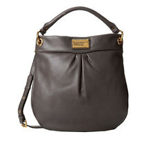 NWT  MARC by MARC JACOBS Classic Q Hillier Leather Hobo Bag DARK GRAY $428 AUTH