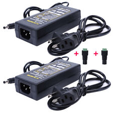 NEW 2 Pcs 12V 6A 72W AC Power Supply AC Adapter Charger For 3528 5050 led strip